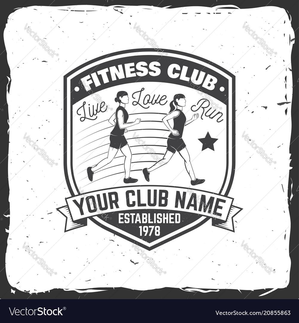 Fitness club badge
