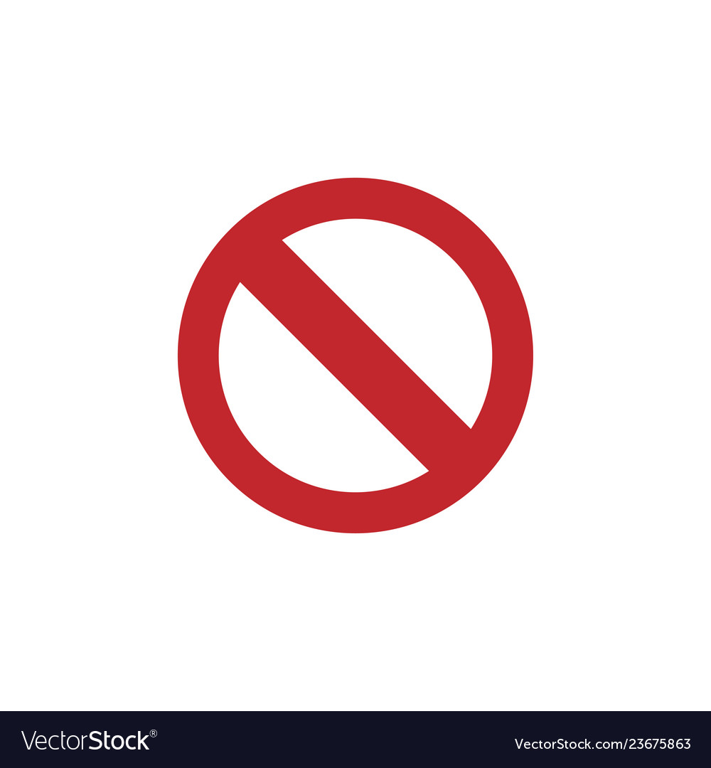 Forbidden icon graphic design template