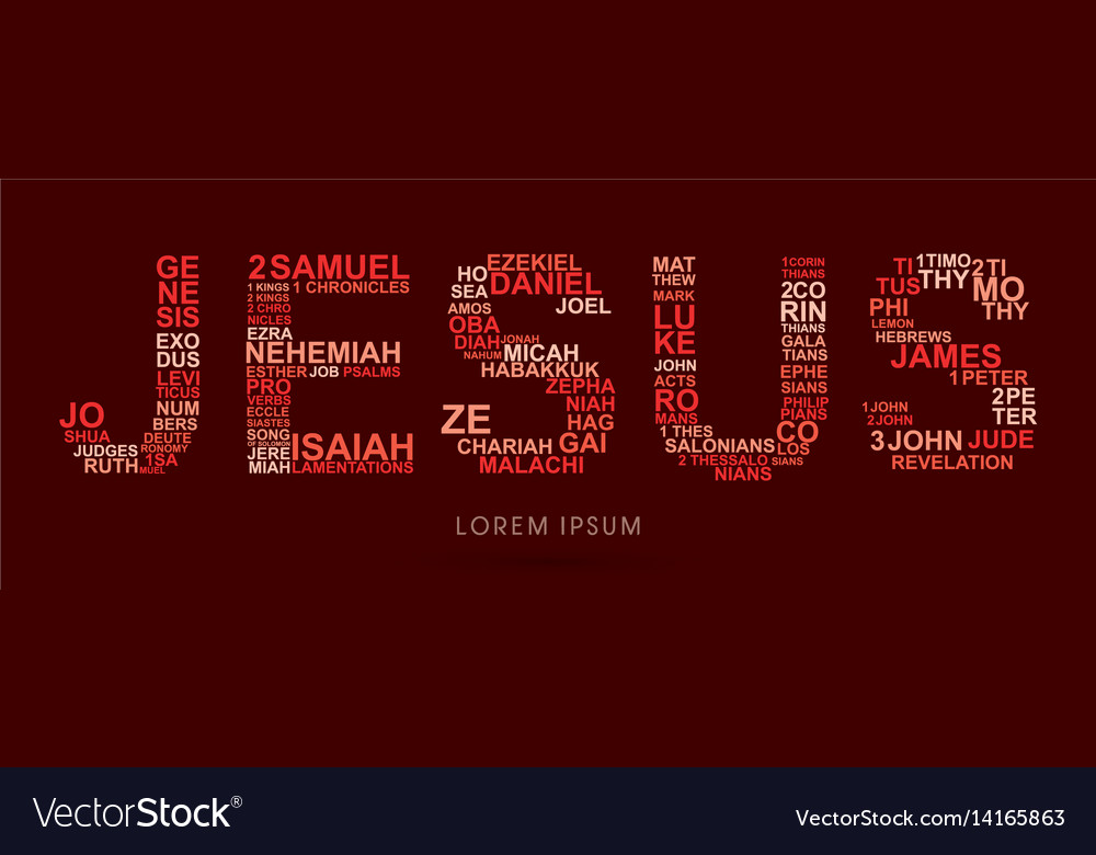 Jesus with bible words genesis to revelation