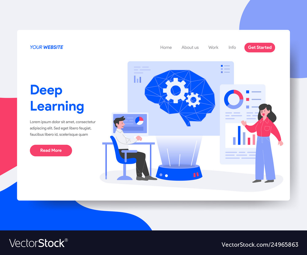 Landing page template deep learning concept