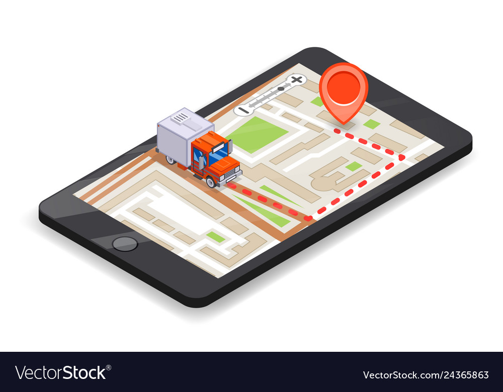 Smartphone logistic mobile delivery tracking app