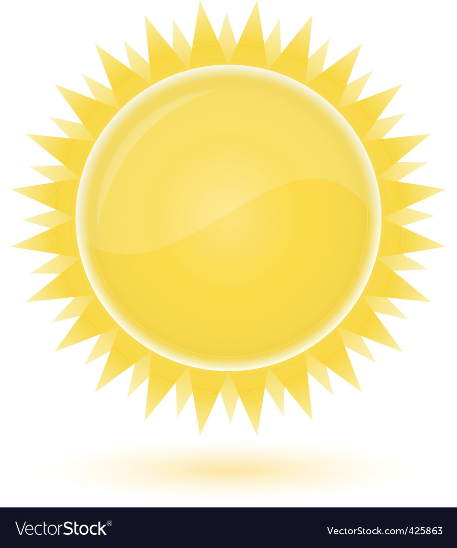 Sun weather forecast glossy icon