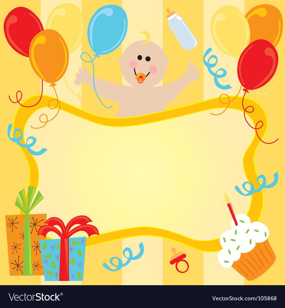 Baby girl birthday invitation royalty free vector image baby girl birthday invitation vector image stopboris Choice Image