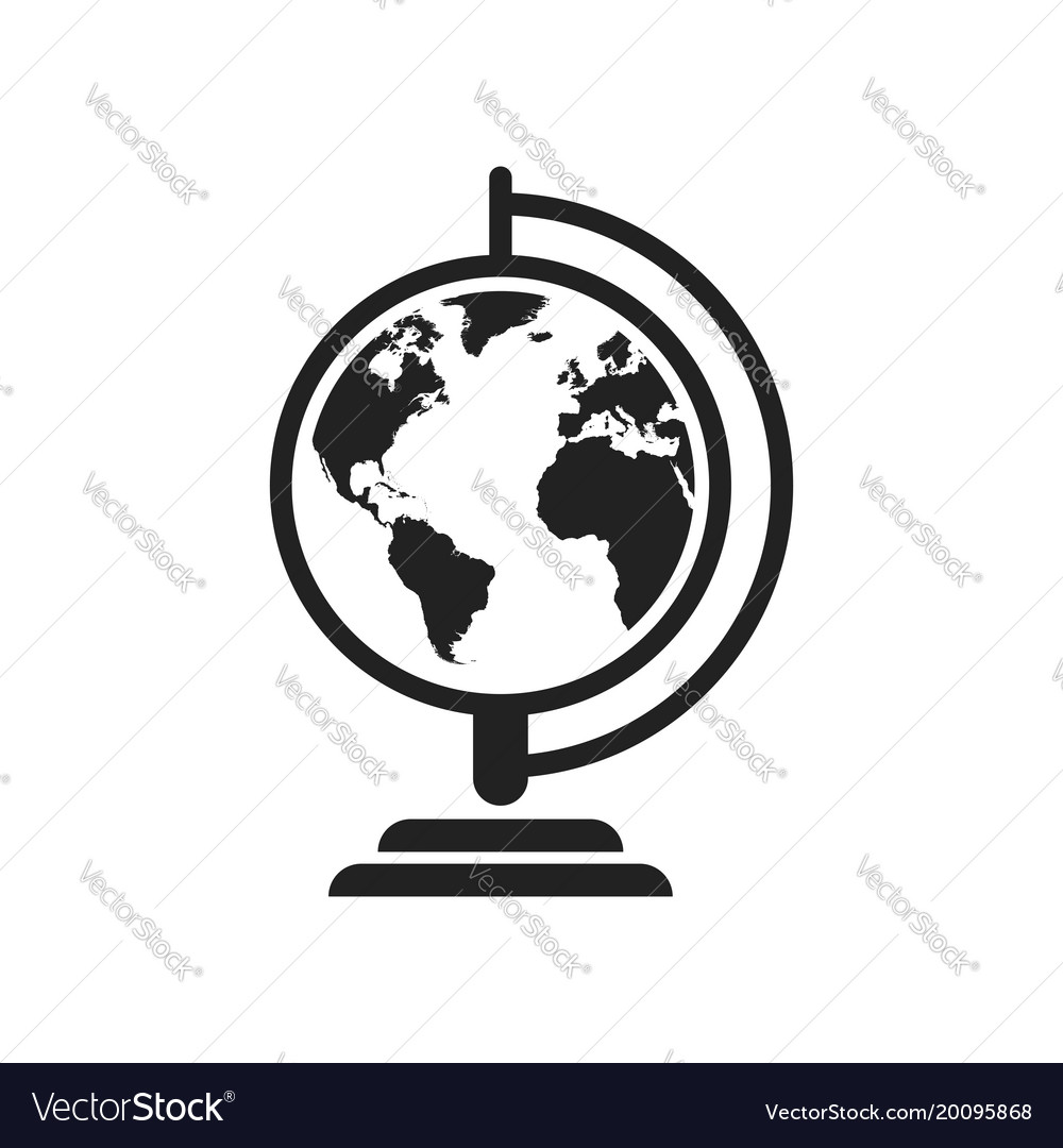 Globe world map icon round earth flat planet vector image gumiabroncs Choice Image