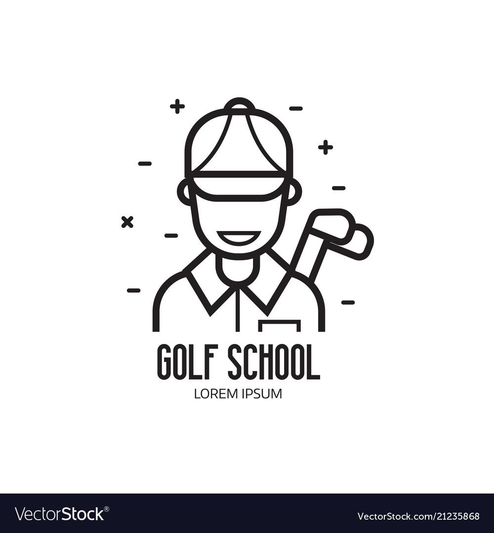 Golf school or club logotype