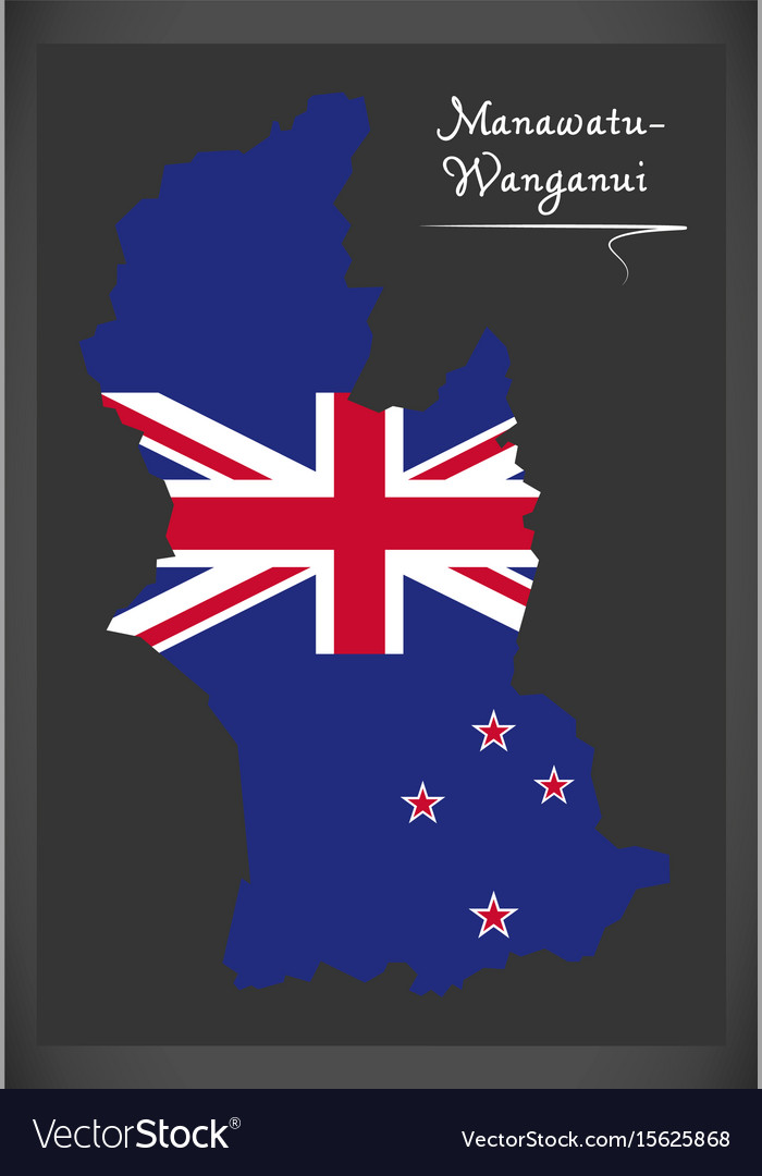 Wanganui New Zealand Map.Manawatu Wanganui New Zealand Map With National