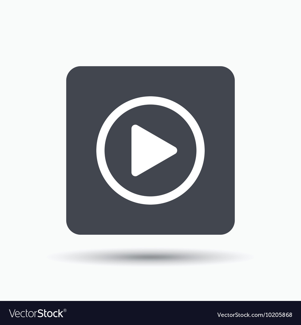 Play Icon Audio Or Video Player Sign Royalty Free Vector