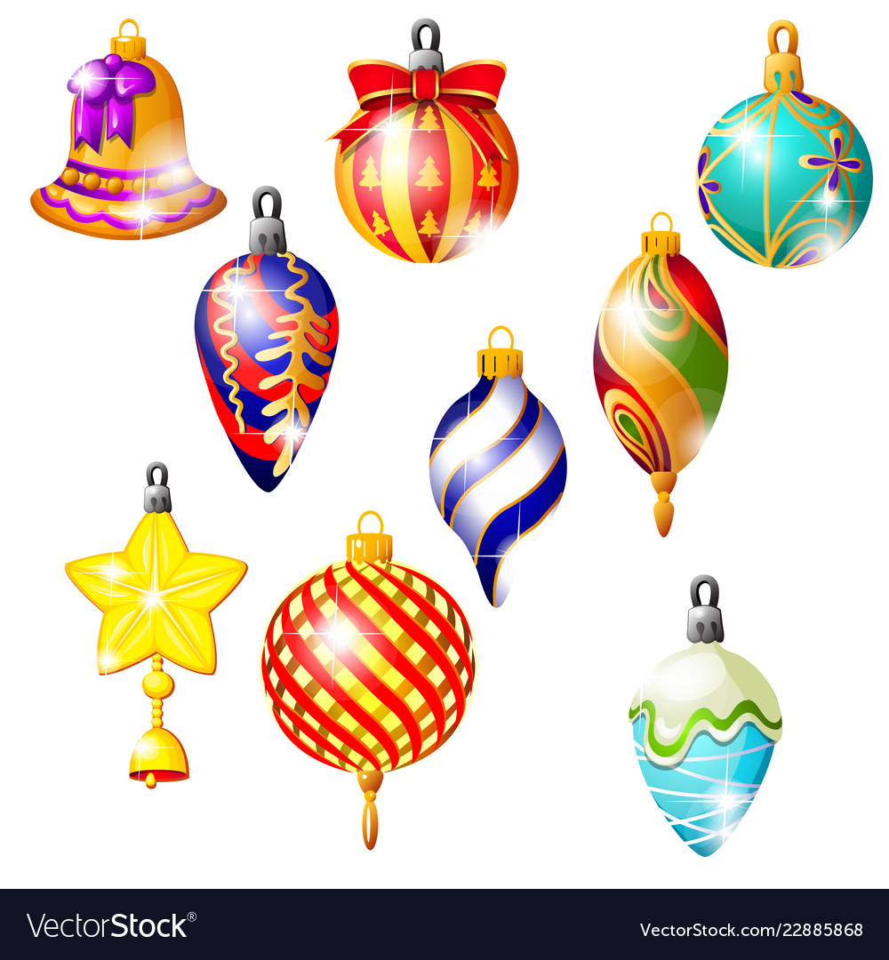 Sketch with christmas tree decorations different