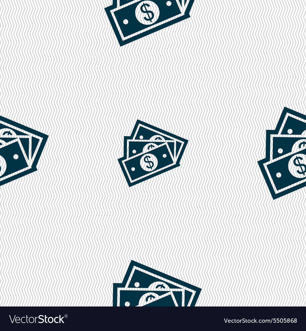 Us dollar icon sign Seamless pattern with