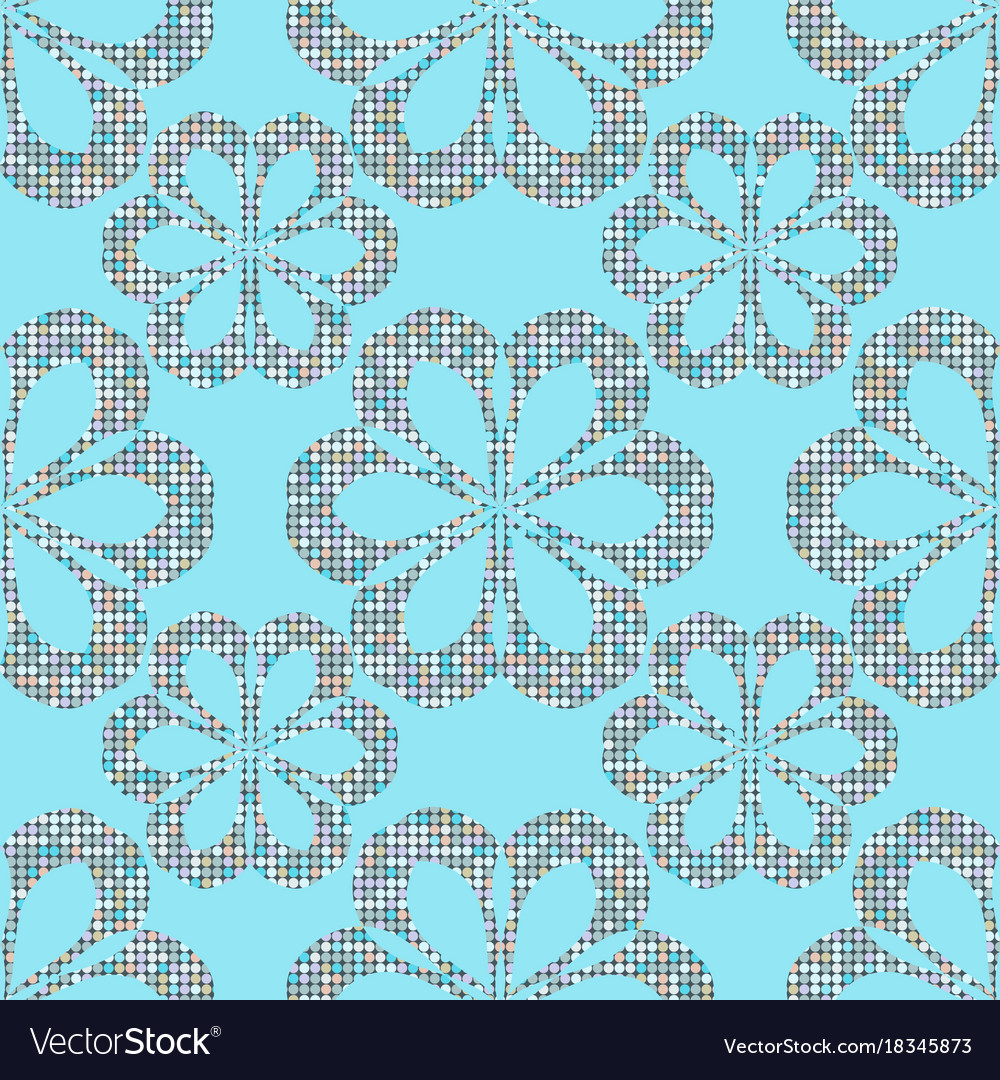 Abstract seamless dots flower