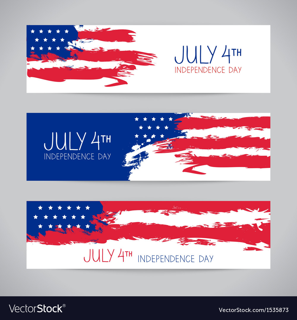Banners with american flag