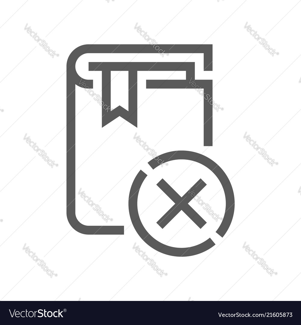 Book flat line icon