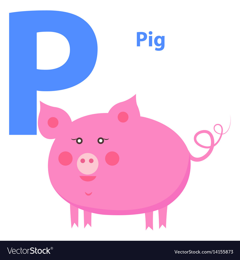 Isolated, Animal, Alphabet, Letter & P Vector Images (56)