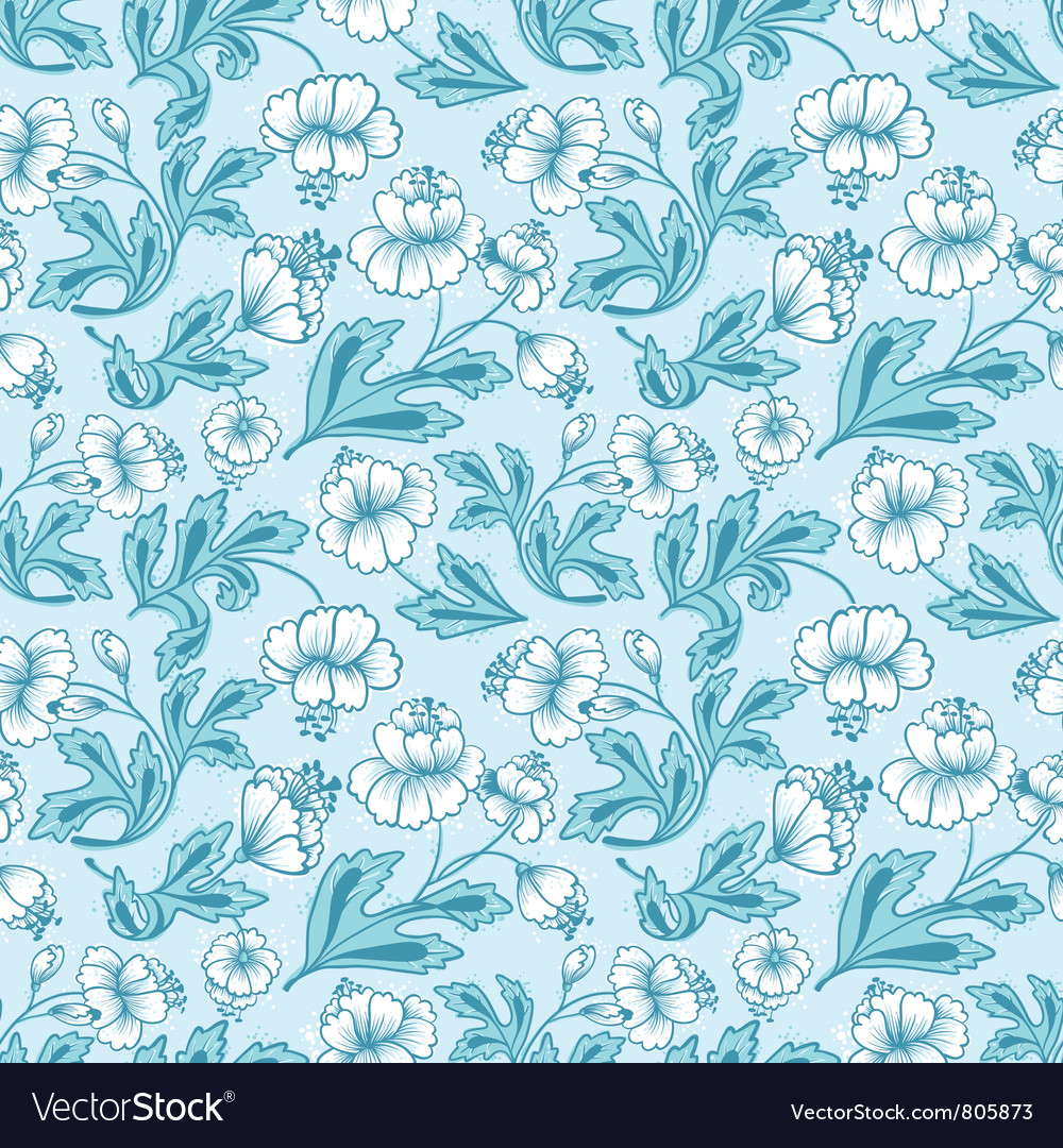 Floral abstract seamless vector image