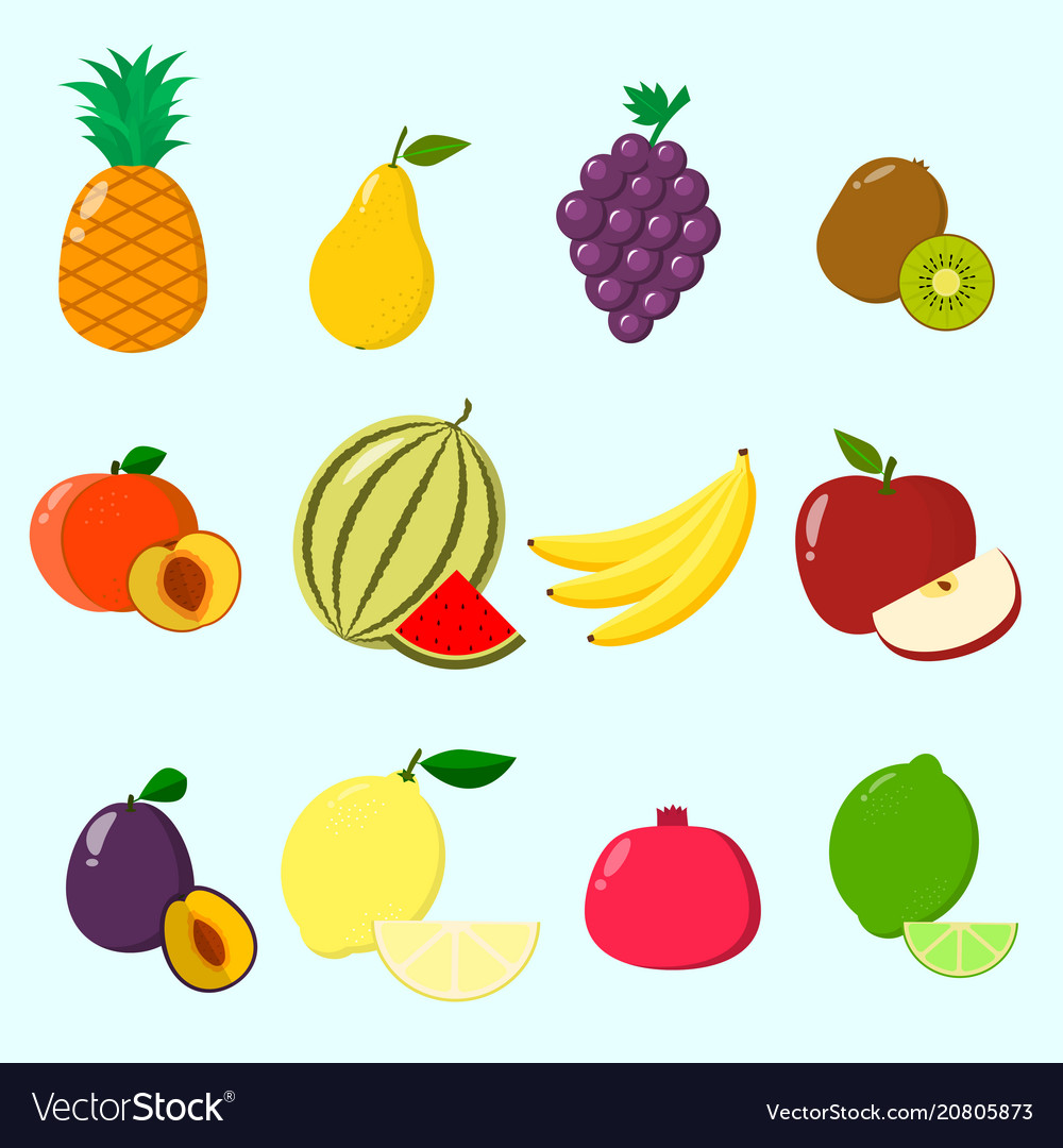 Fruits a set of icons