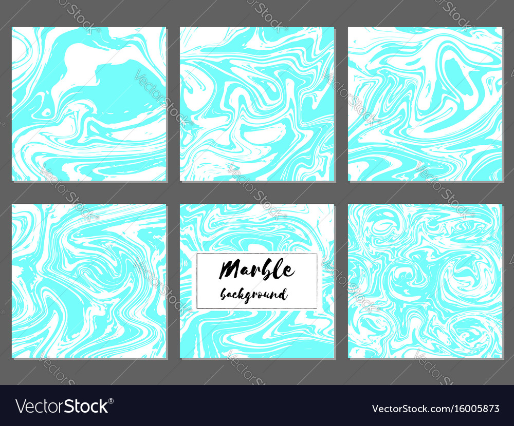 Marble hand drawn texture background card template