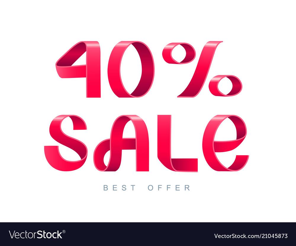 Sale 40 percent off