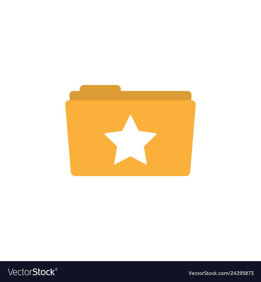 Star folder icon design template isolated