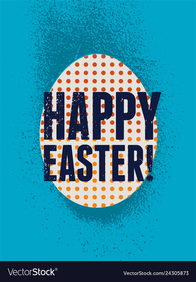 Stencil spray style grunge easter greeting card