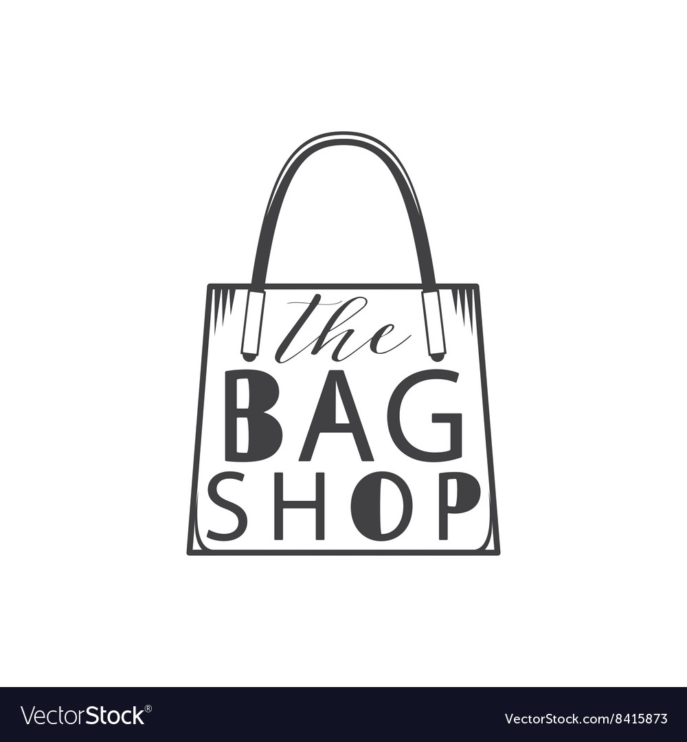 The bag shop Isolated on white background