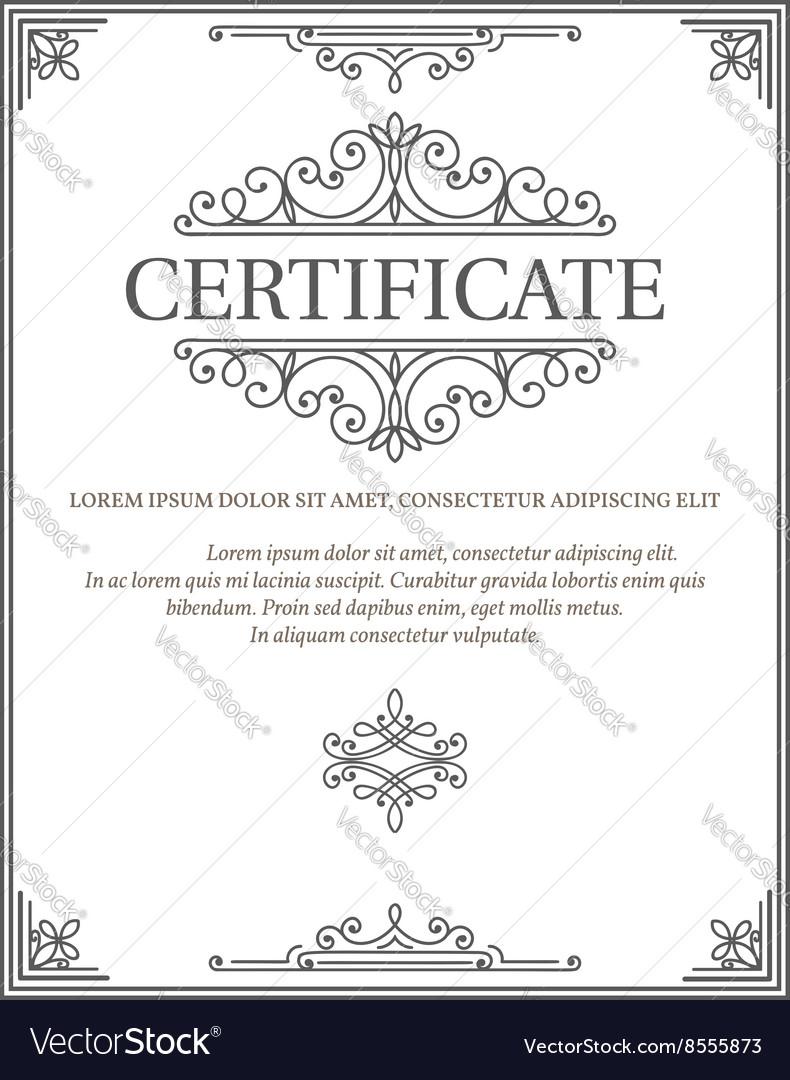 Vertical Certificate Template Diploma Royalty Free Vector