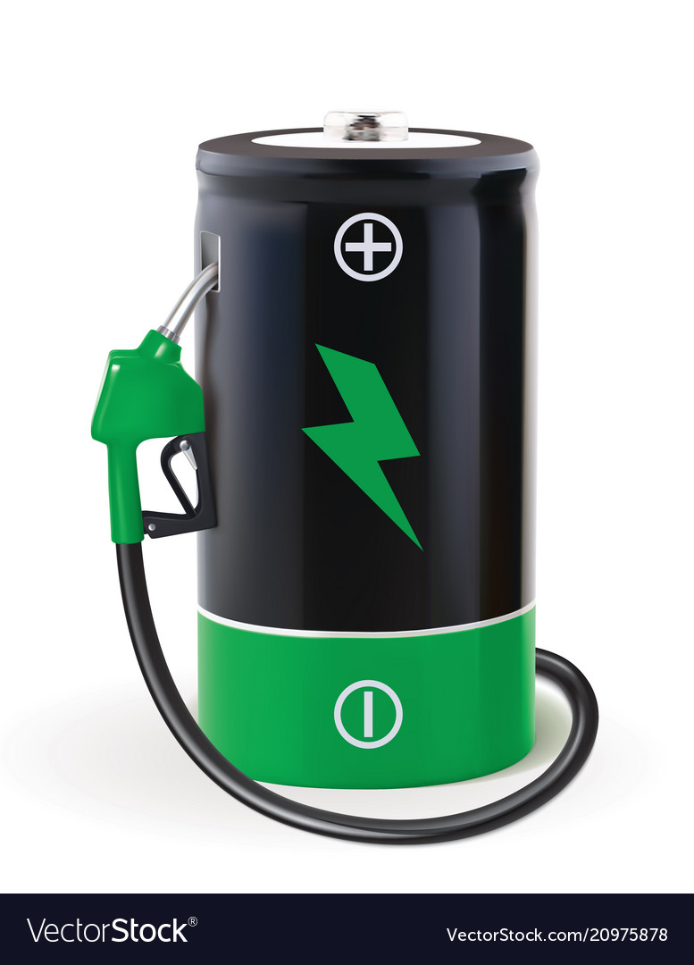 Battery with dispenser metaphor use eco power