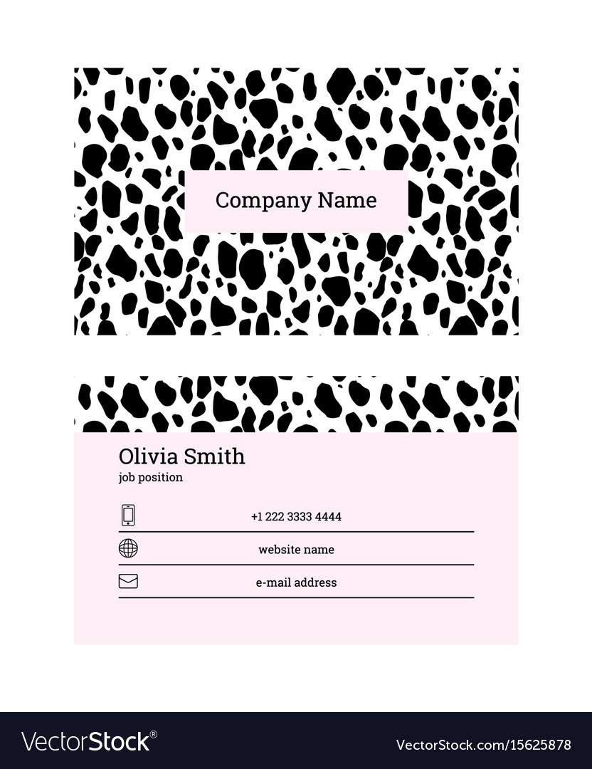 Black and pink business card template royalty free vector black and pink business card template vector image colourmoves
