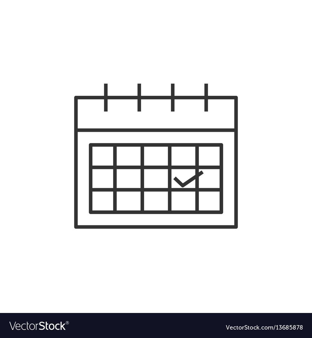 Calendar line icon