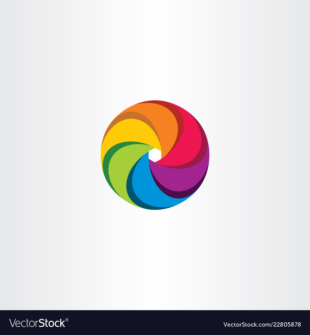 Colorful circle logo business sign tech element