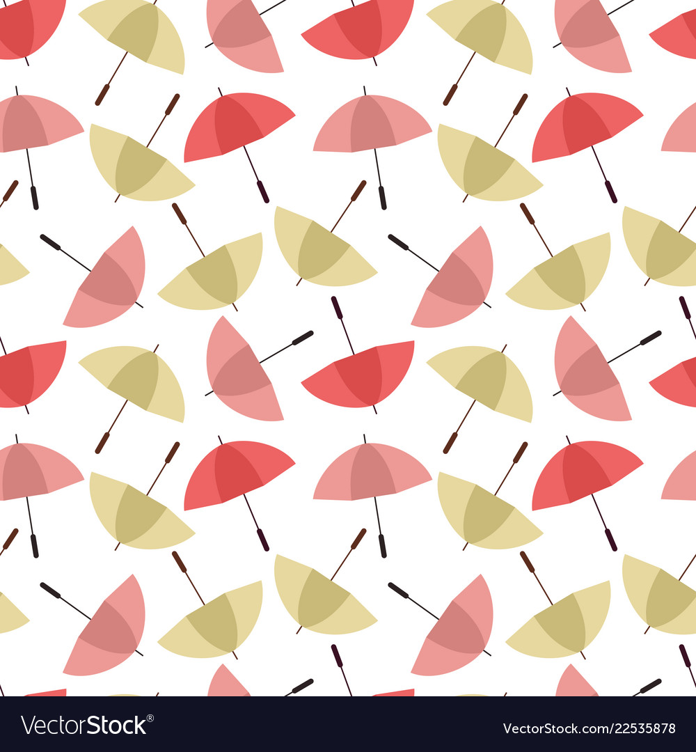 Colorful umbrellas seamless background pattern