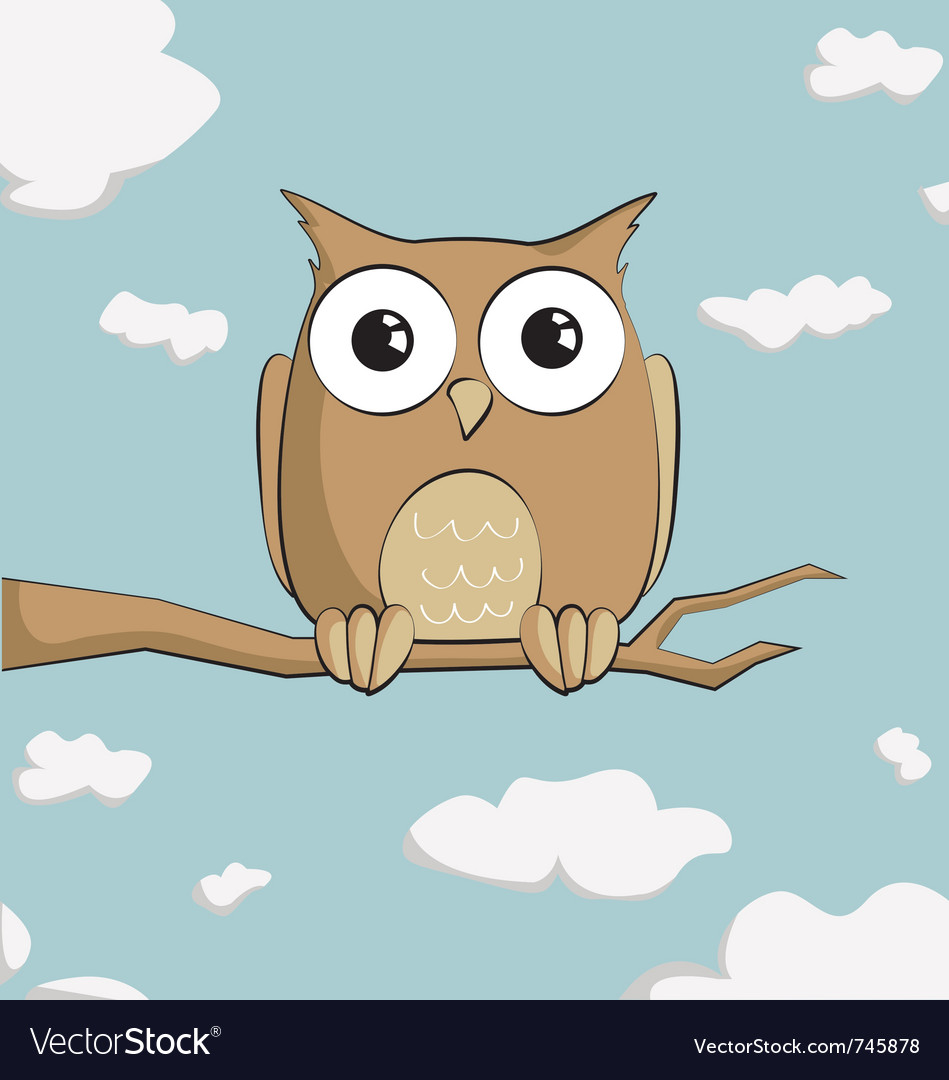 cute cartoon owl royalty free vector image vectorstock rh vectorstock com cartoon owl images cartoon owl images free