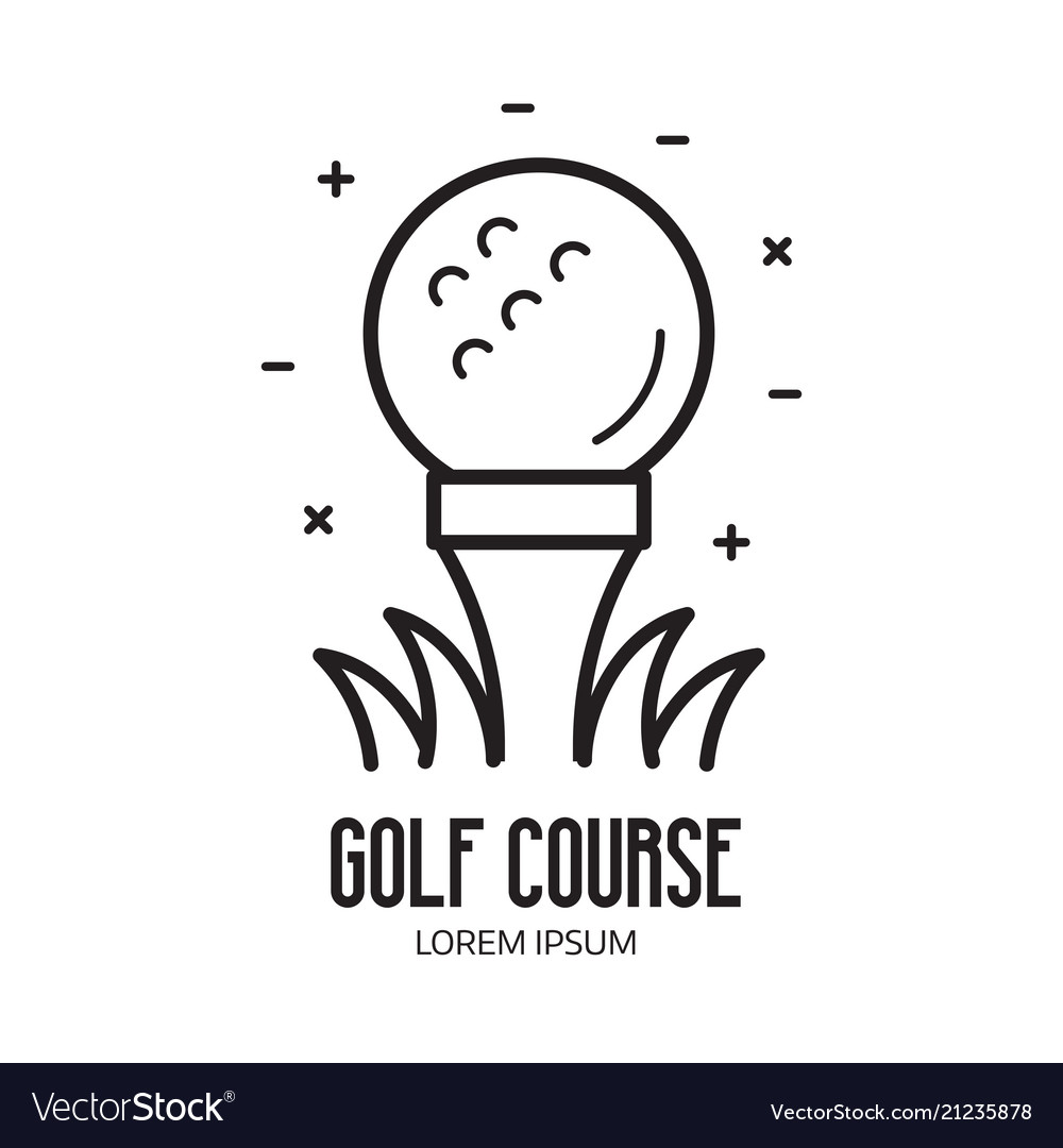 Golf school or club logotype with ball vector