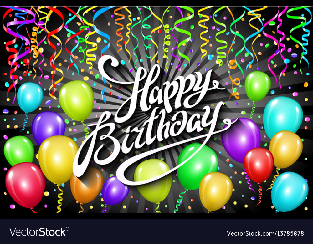 Happy birthday typographic design for greeting