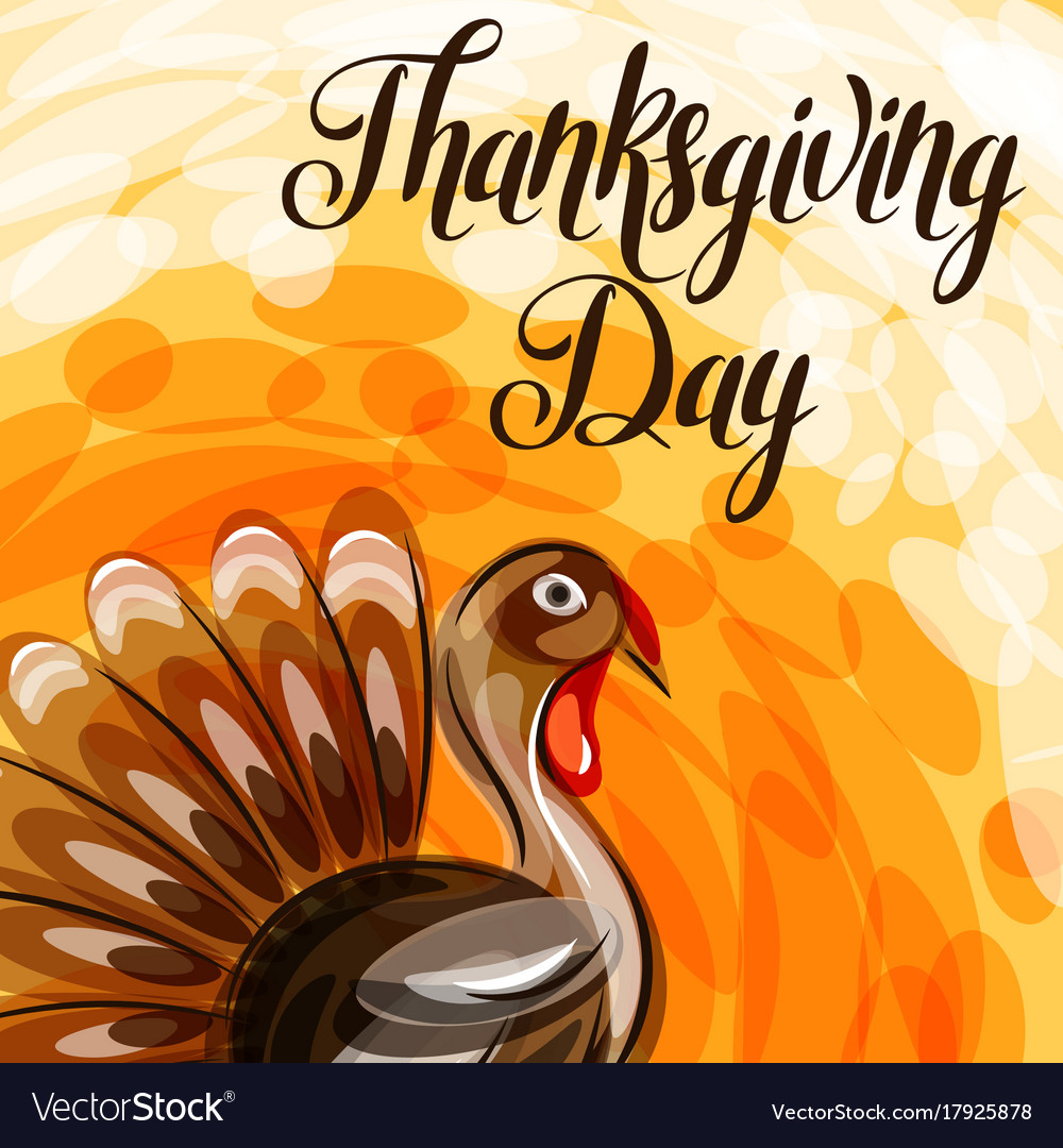 Happy thanksgiving day greeting card with abstract