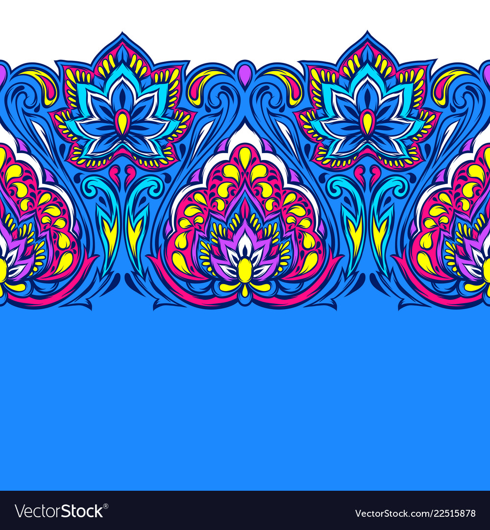 Indian ethnic seamless pattern