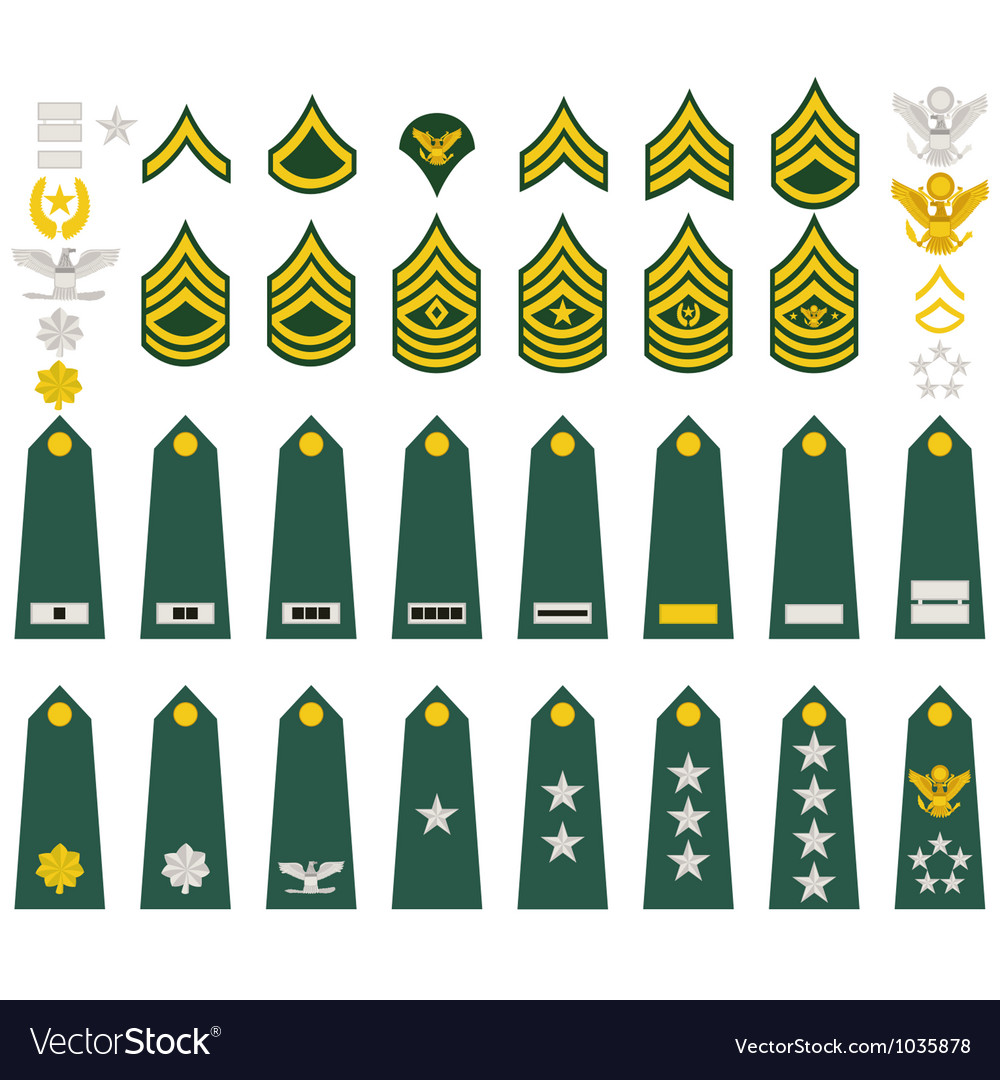 Insignia Of The Us Army Royalty Free Vector Image