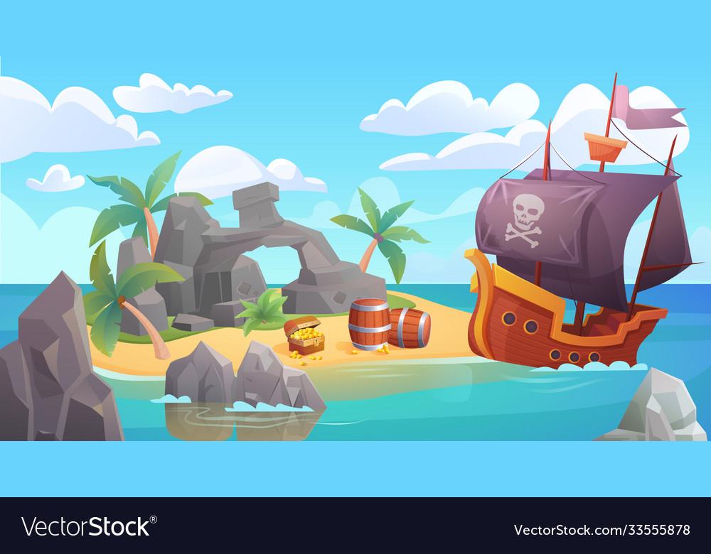 Pirate island landscape