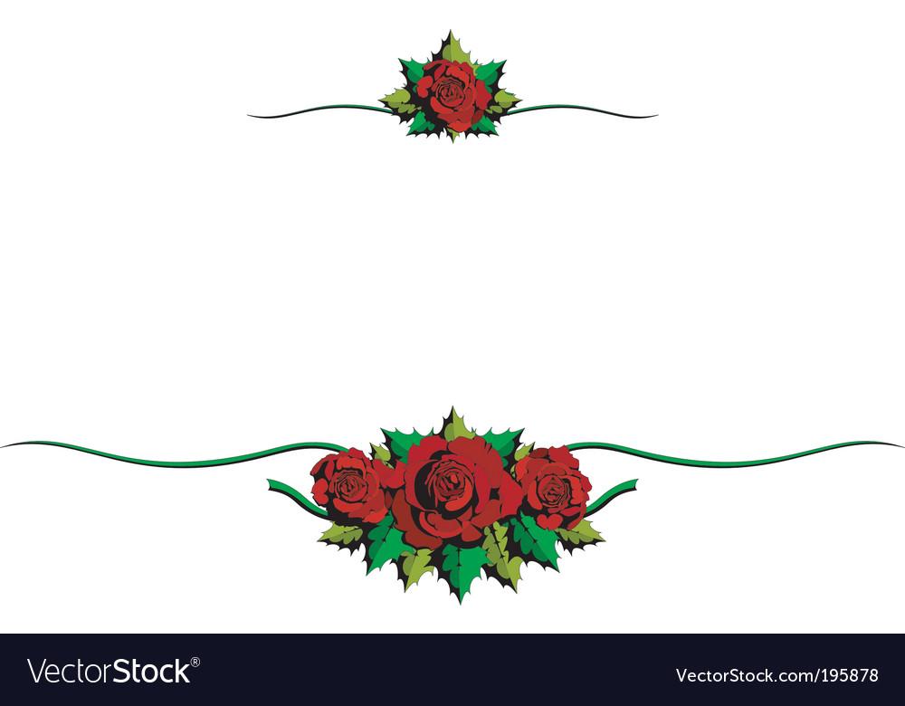 Rose cartoon ornaments vector image