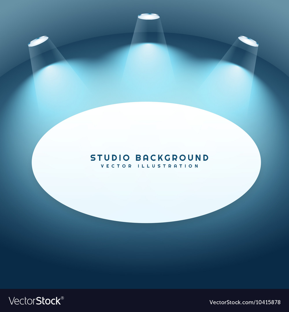 Studio background with frame vector image