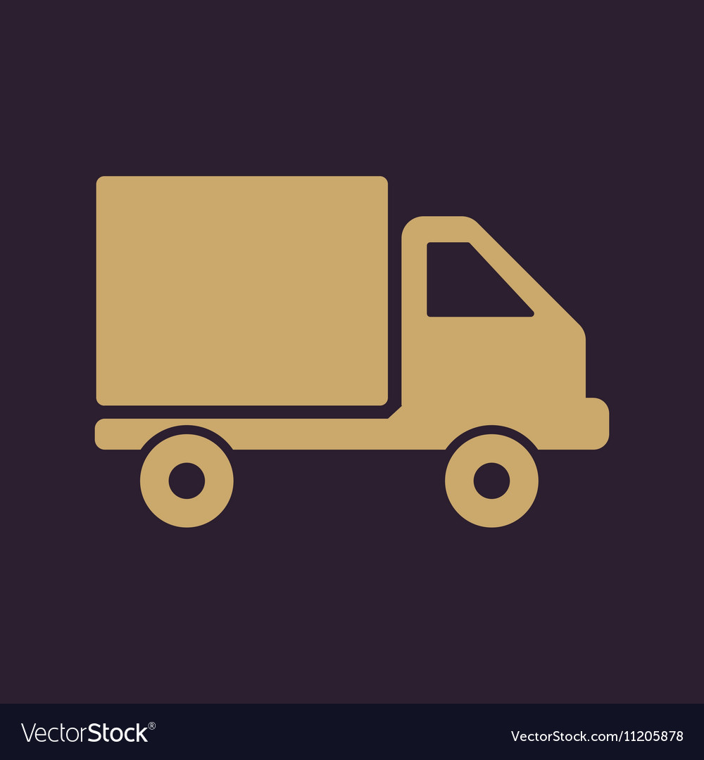 The truck icon Delivery and shipping symbol Flat