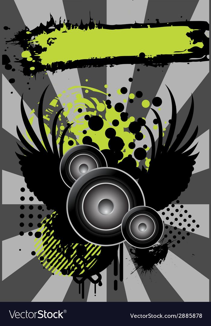 Urban grungy music banner