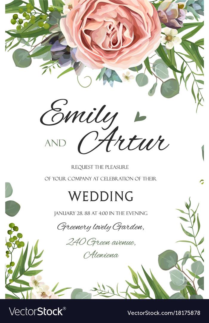 Wedding invitation invite save the date floral