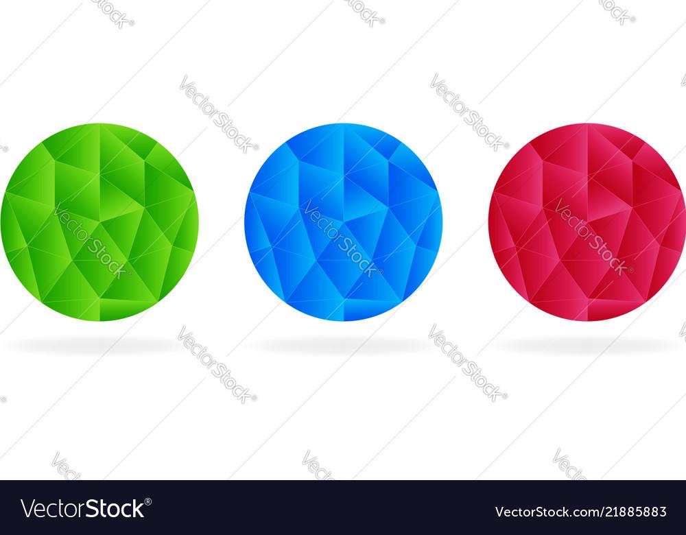 Abstract circle set low-poly logo