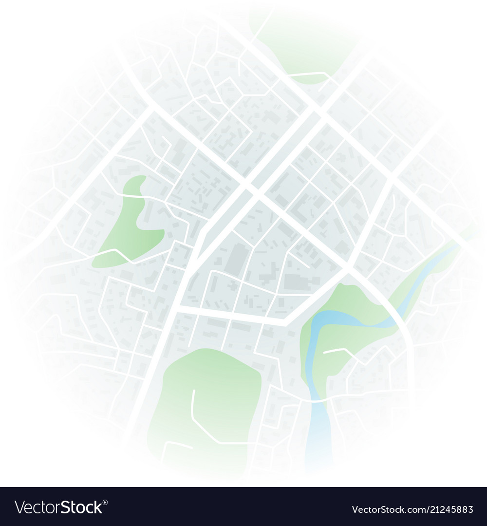 Abstract city map with blurred edge city