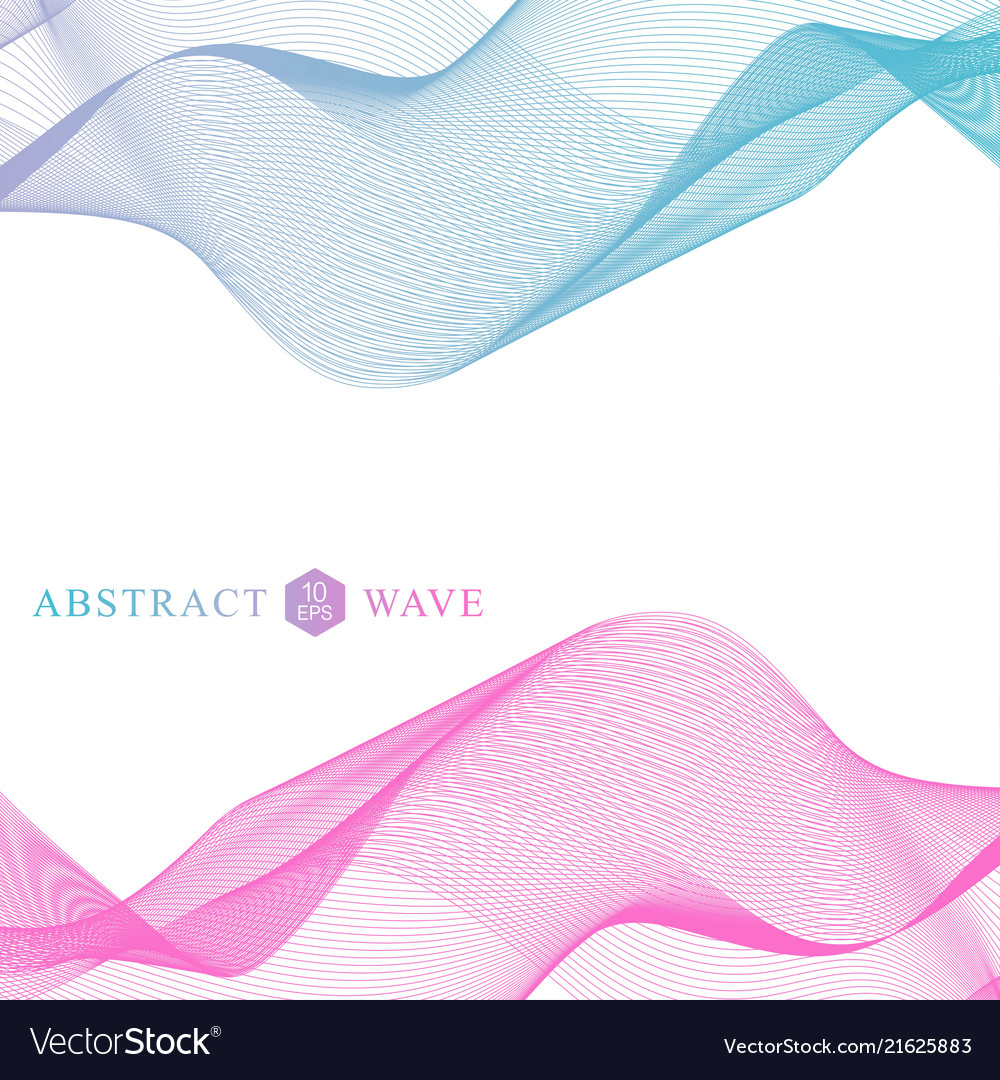 Abstract colorfull wave element for design big