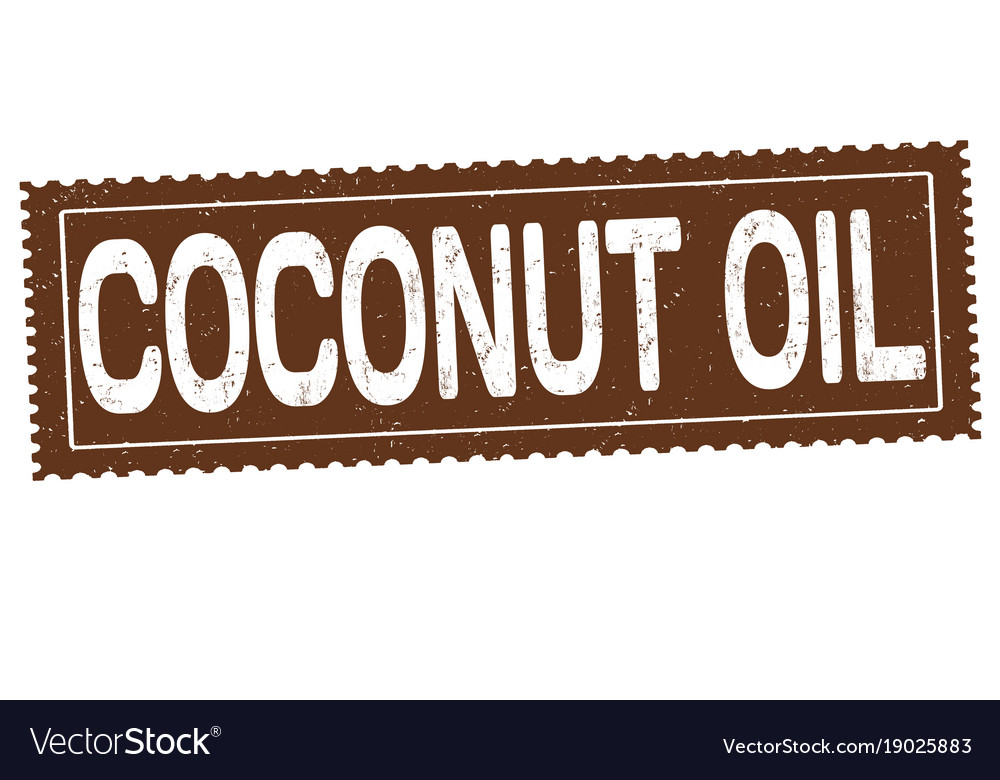 Coconut oil grunge rubber stamp