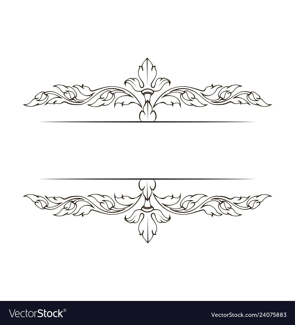Decorative ornamental page decoration