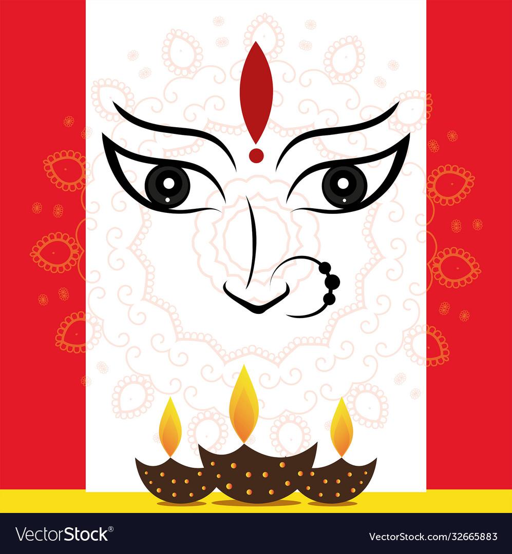 Durga poster designs for navaratri festival