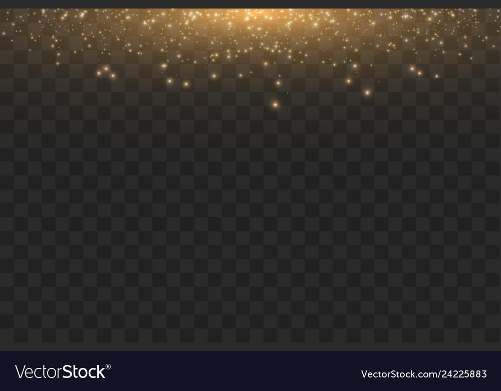 Golden cloud glitter wave abstract