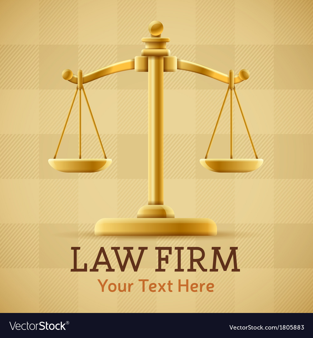 Law Firm Justice Scale Background